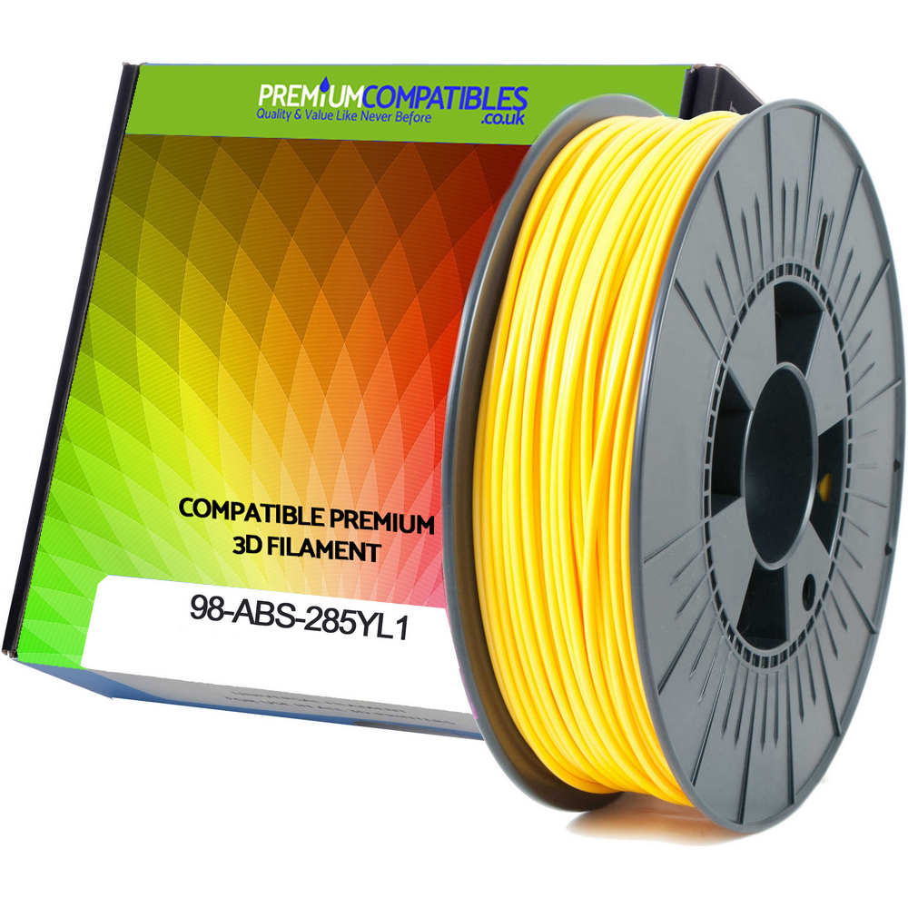 Premium Compatible ABS 2.85mm Yellow 0.5kg 3D Filament (98-ABS-285YL1)