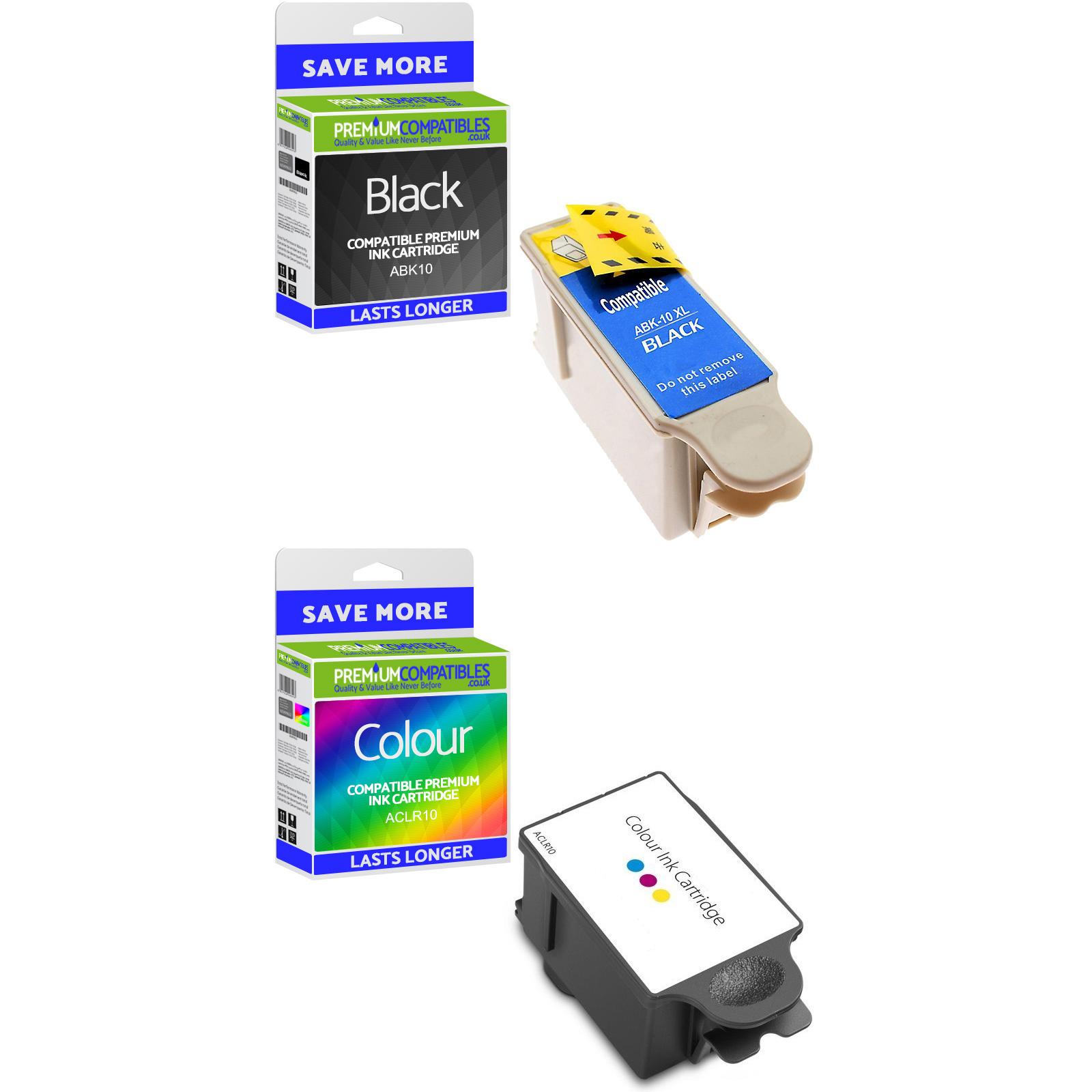 Premium Compatible Advent ABK10 / ACLR10 Black & Colour Combo Pack Ink Cartridges (851943 & 900248)