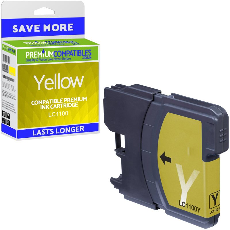 Premium Compatible Brother LC1100 Yellow Ink Cartridge (LC1100Y)