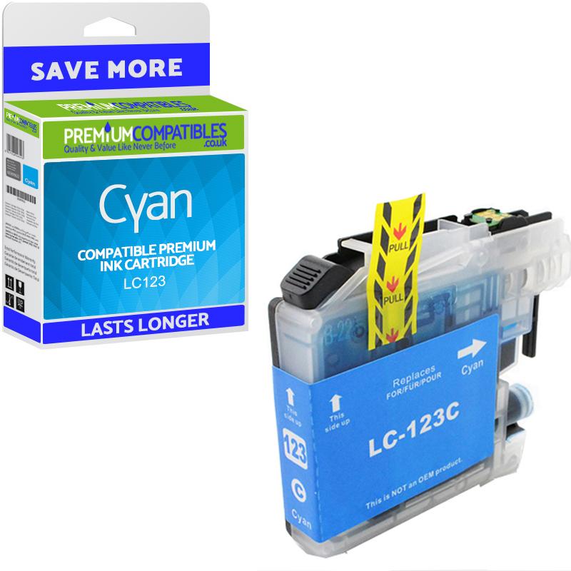 1 Cyan Genuine Original Brother LC123 Ink Cartridge OEM