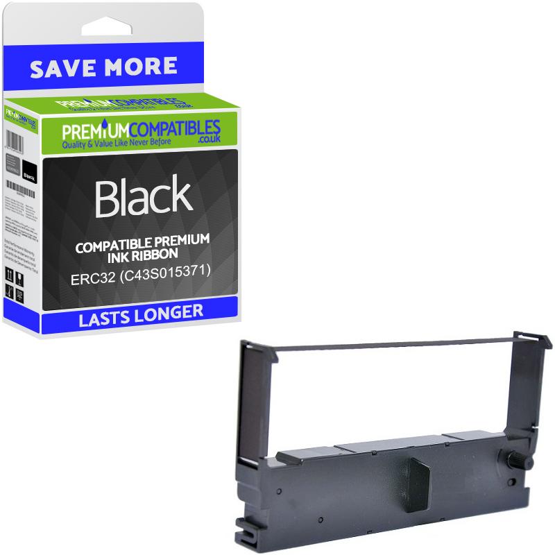 Premium Compatible Epson ERC32 Black Nylon Ribbon (C43S015371)
