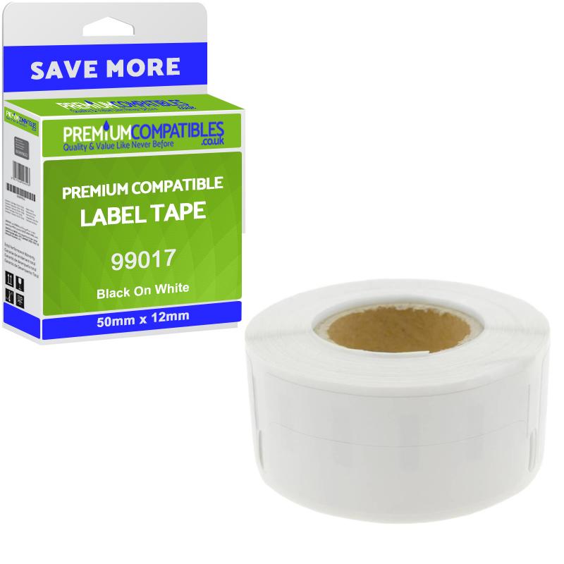 Premium Compatible Dymo 99017 50mm x 12mm Suspension File Labels 5-Pack (S0722460)