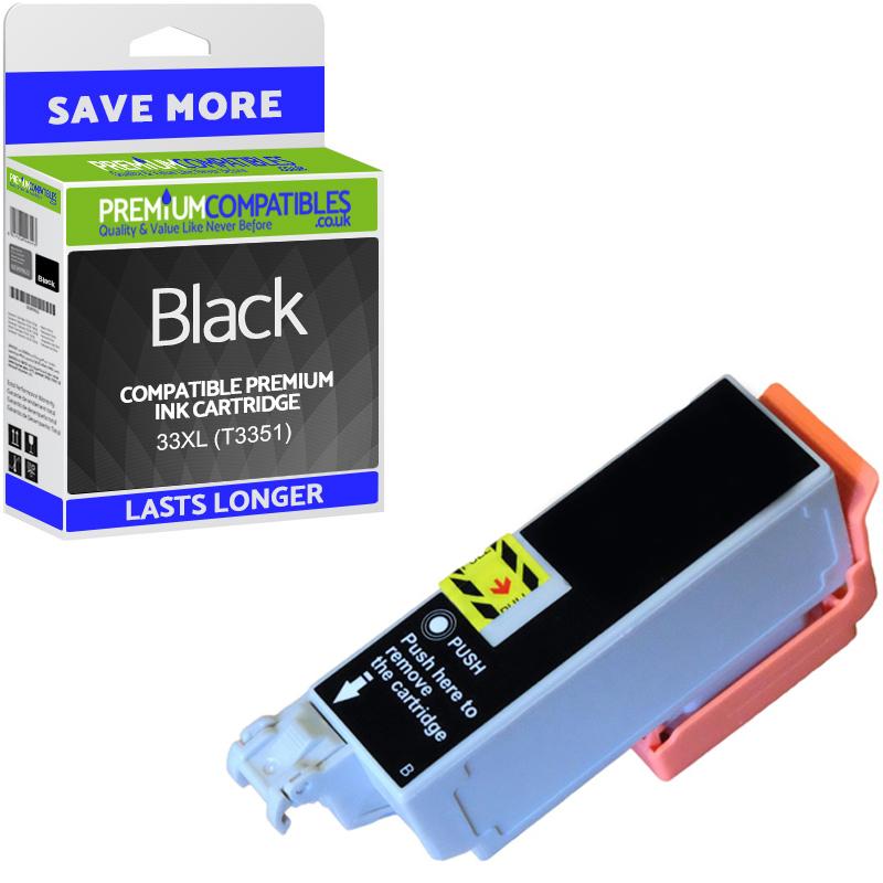 Premium Compatible Epson 33XL Black High Capacity Ink Cartridge (C13T33514010) T3351 Oranges