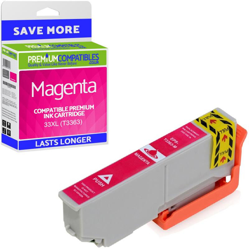 Premium Compatible Epson 33XL Magenta High Capacity Ink Cartridge (C13T33634010) T3363 Oranges