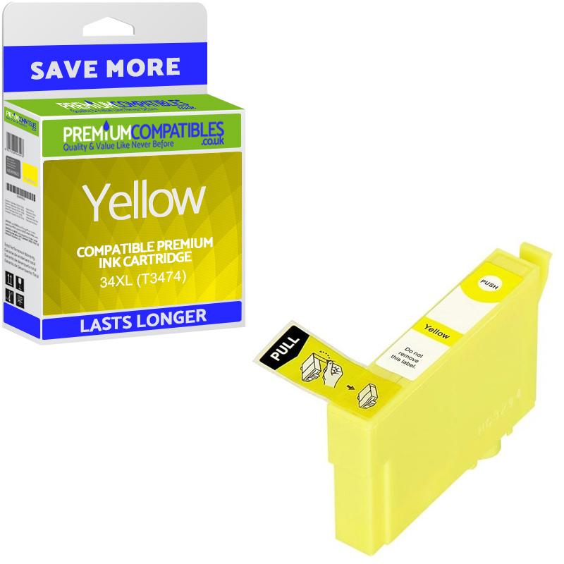 Premium Compatible Epson 34XL Yellow High Capacity Ink Cartridge (C13T34744010)