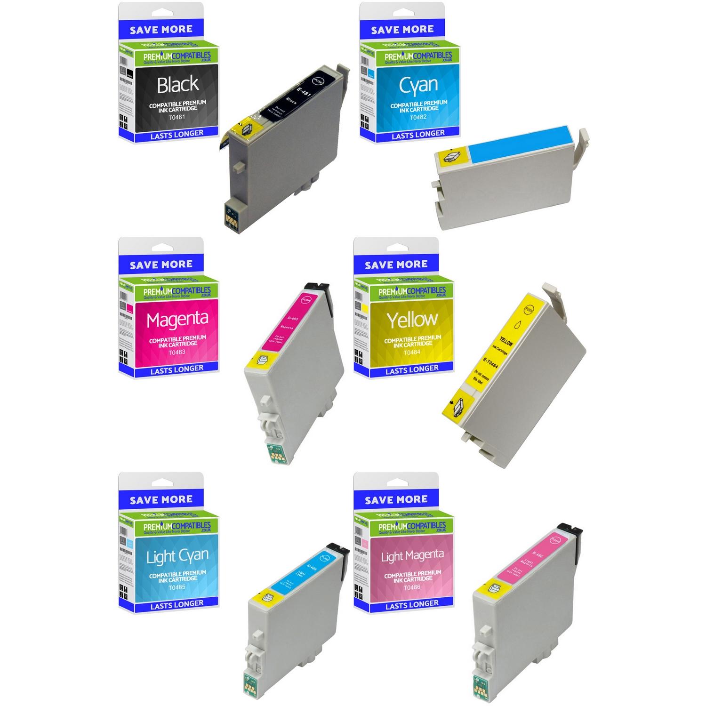 Premium Compatible Epson T0487 C, M, Y, K, LC, LM Multipack Ink Cartridges (C13T04874010)