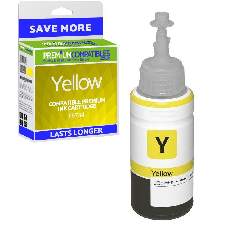 Premium Compatible Epson T6734 Yellow Ink Bottle (T6734)