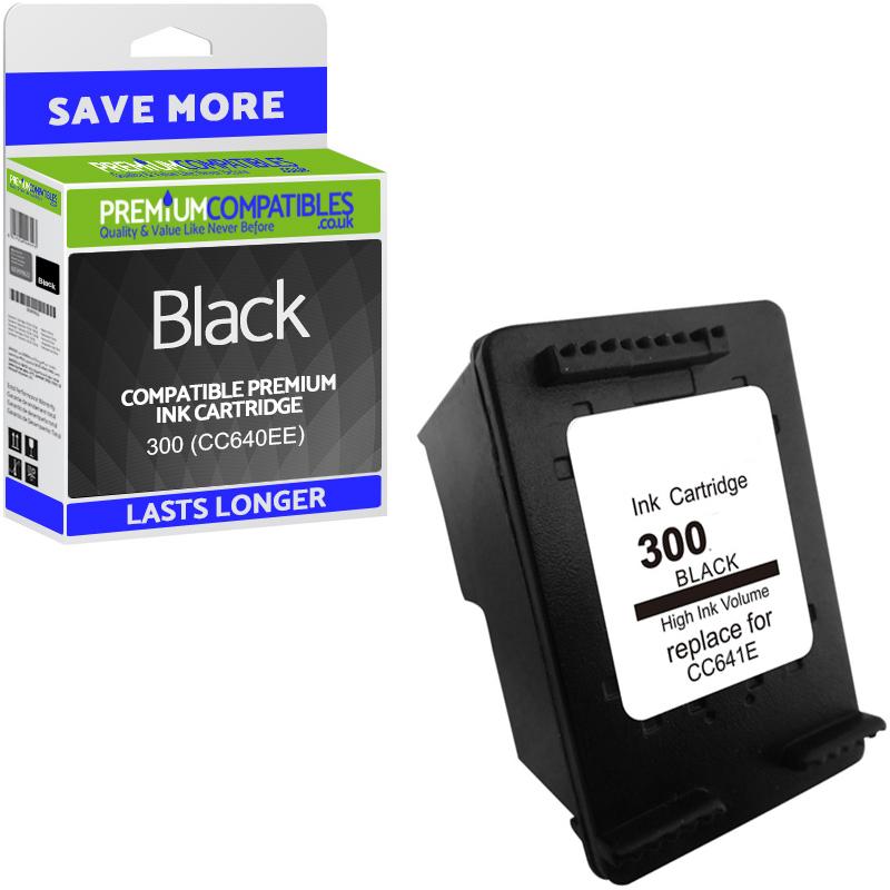 Premium Remanufactured HP 300 Black Ink Cartridge (CC640EE) to fit the HP  Deskjet F4280 Printer