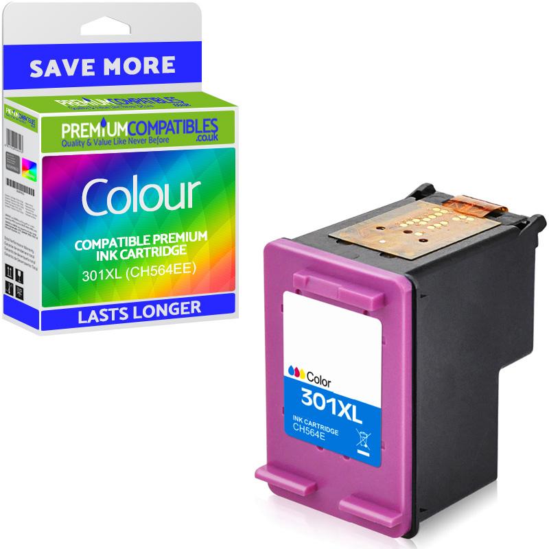 Premium Remanufactured HP 301XL Colour High Capacity Ink Cartridge (CH564EE)