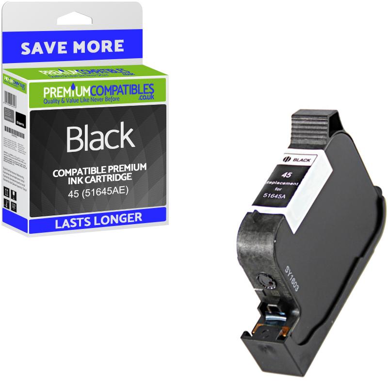 Premium Remanufactured HP 45 Black High Capacity Ink Cartridge (51645AE)