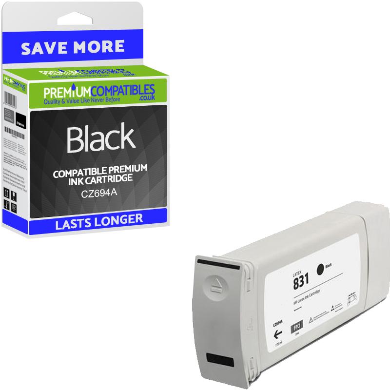 Premium Remanufactured HP 831C Black Latex Ink Cartridge (CZ694A)