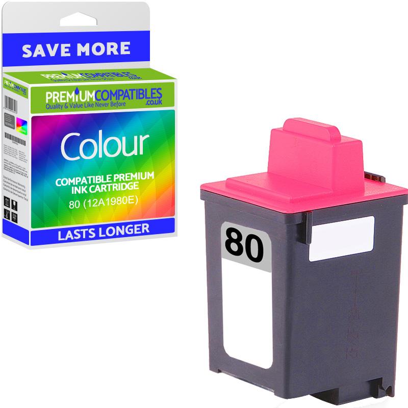 Premium Remanufactured Lexmark 80 Colour Ink Cartridge (12A1980E)