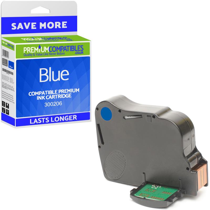 Premium Remanufactured Neopost 300206 Blue Franking Ink Cartridge (4144151Y)