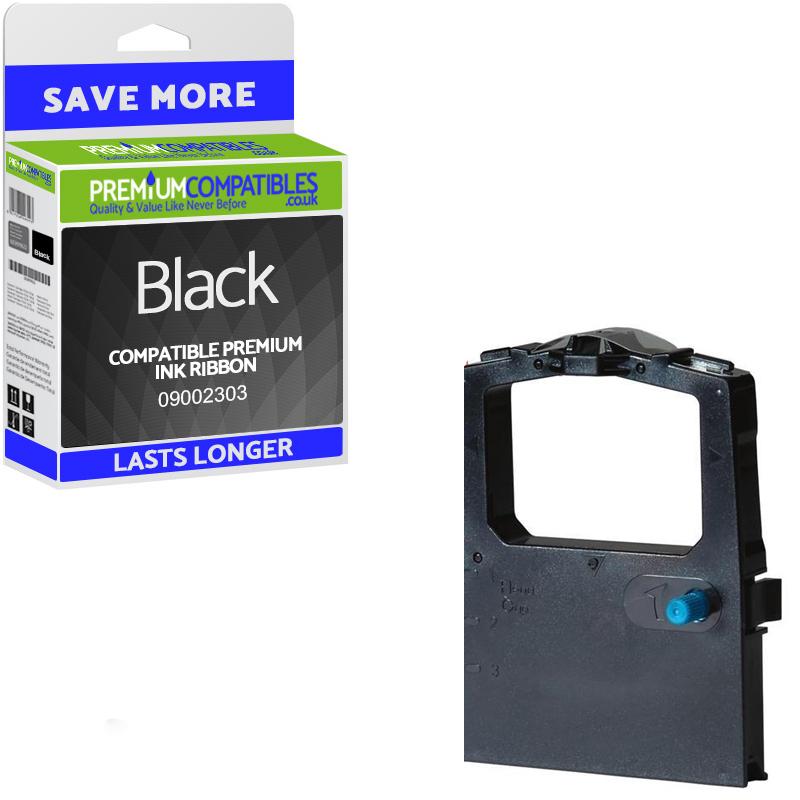 Premium Compatible OKI 09002303 Black Fabric Ink Ribbon (09002303)