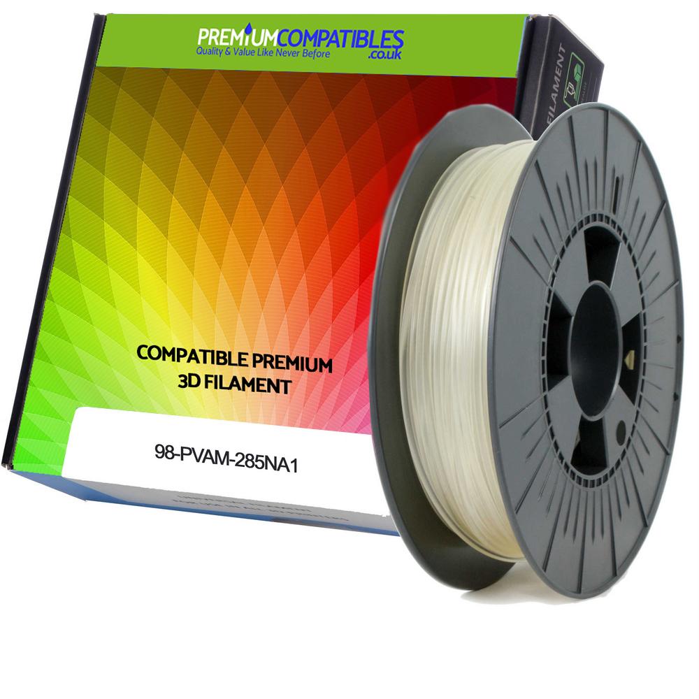 Premium Compatible PVA-M 2.85mm Natural Water Soluble 0.3kg 3D Filament (98-PVAM-285NA1)