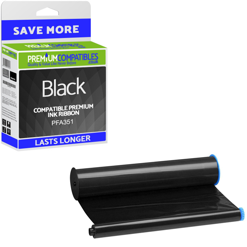 Premium Compatible Philips PFA351 Black High Capacity Ink Film Thermal Ribbon (PFA351)