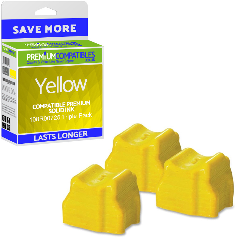 Premium Compatible Xerox 108R00725 Yellow Triple Pack Solid Ink (108R00725)