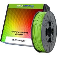 Premium Compatible ABS 1.75mm Apple Green 0.5kg 3D Filament (98-ABS-175GR1)