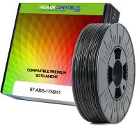 Premium Compatible ABS 1.75mm Black 1kg 3D Filament (97-ABS-175BK1)