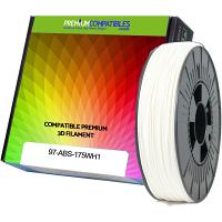 Premium Compatible ABS 1.75mm White 1kg 3D Filament (97-ABS-175WH1)