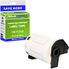 Premium Compatible Brother DK-11240 Black On White 102mm x 51mm Barcode Label Tape - 600 Labels (DK11240)