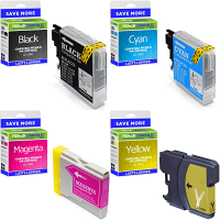 Premium Compatible Brother LC1100 CMYK Multipack Ink Cartridges (LC1100VALBPRF)