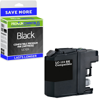 Premium Compatible Brother LC123 Black Ink Cartridge (LC123BK)