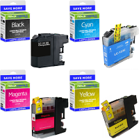 Premium Compatible Brother LC123 CMYK Multipack Ink Cartridges (LC123VALBP)