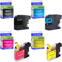 Premium Compatible Brother LC123BK / LC125XL C, M, Y Multipack Ink Cartridges (LC123BK / LC125XLRBWBPRF)