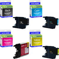 Premium Compatible Brother LC1240 CMYK Multipack High Capacity Ink Cartridges (LC1240VALBPRF)