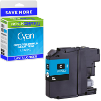 Premium Compatible Brother LC125XL Cyan High Capacity Ink Cartridge (LC125XLC)