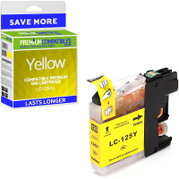 Premium Compatible Brother LC125XL Yellow High Capacity Ink Cartridge (LC125XLY)