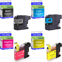 Premium Compatible Brother LC127XLBK / LC125XL CMYK Multipack High Capacity Ink Cartridges (LC127XLVALBPRF)