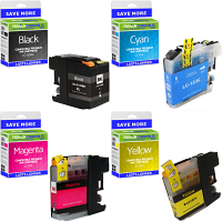 Premium Compatible Brother LC129XL / LC123 CMYK Multipack Ink Cartridges (LC129XLBK / LC123RBWBP)