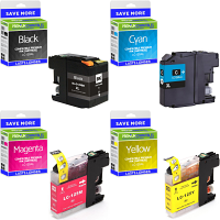 Premium Compatible Brother LC129XL / LC125XL CMYK Multipack High Capacity Ink Cartridges (LC129XLVALBP)