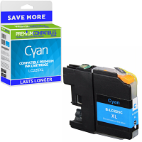 Premium Compatible Brother LC225XL Cyan High Capacity Ink Cartridge (LC225XLC)