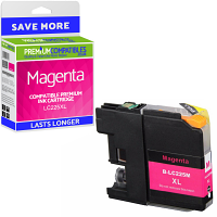 Premium Compatible Brother LC225XL Magenta High Capacity Ink Cartridge (LC225XLM)