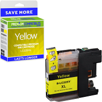 Premium Compatible Brother LC225XL Yellow High Capacity Ink Cartridge (LC225XLY)