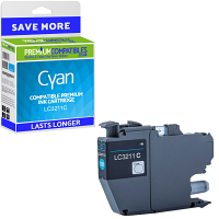 Premium Compatible Brother LC3211C Cyan Ink Cartridge (LC3211C)