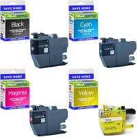 Premium Compatible Brother LC3213 CMYK Multipack High Capacity Ink Cartridges (LC3213BK /LC3213C /LC3213M /LC3213Y)