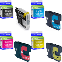 Premium Compatible Brother LC980 CMYK Multipack Ink Cartridges (LC980VALBPRF)