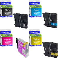 Premium Compatible Brother LC985 CMYK Multipack Ink Cartridges (LC985VALBPRF)