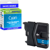 Premium Compatible Brother LC985C Cyan Ink Cartridge (LC985C)