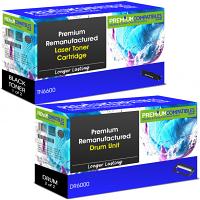Premium Remanufactured Brother TN-6600 / DR-6000 Black High Capacity Toner Cartridge & Drum Unit Combo Pack (TN6600 & DR6000)