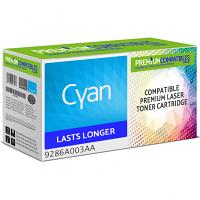 Premium Compatible Canon 701 Cyan High Capacity Toner Cartridge (9286A003AA)