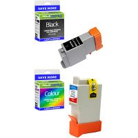 Premium Compatible Canon BCI21 Black & Colour Combo Pack Ink Cartridges (0954A379)