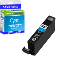 Premium Compatible Canon CLI-526C Cyan Ink Cartridge (4541B001)