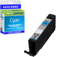 Premium Compatible Canon CLI-581CXXL Cyan Extra High Capacity Ink Cartridge (1995C001)
