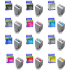 Premium Compatible Canon PFI-1000 Multipack Set Of 12 Ink Cartridges (PFI-1000MBK /PBK/C/PC/PM/M /PGY/GY/B/R/Y/CO)