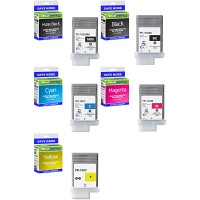 Premium Compatible Canon PFI-102 Multipack Set Of 5 Ink Cartridges (PFI-102MBK/BK/C/M/Y)